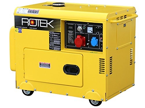 Rotek Diesel Stromerzeuger GD4SS-3-6000-EBZ (6,0 kVA / 5,0kW 400V 50Hz 3-phasig)