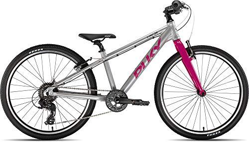 Puky LS-Pro 24-8 Alu Kinder Fahrrad silberfarben/Berry