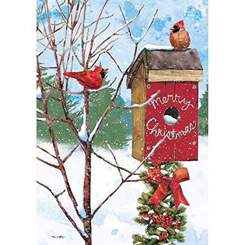 LANG Merry Birdhouse Petite Christmas Card (2004536)