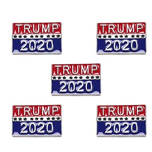Broche de Donald Trump con diseño de bandera de América para ropa, vaqueros, bufandas, sombreros, bolsos,...