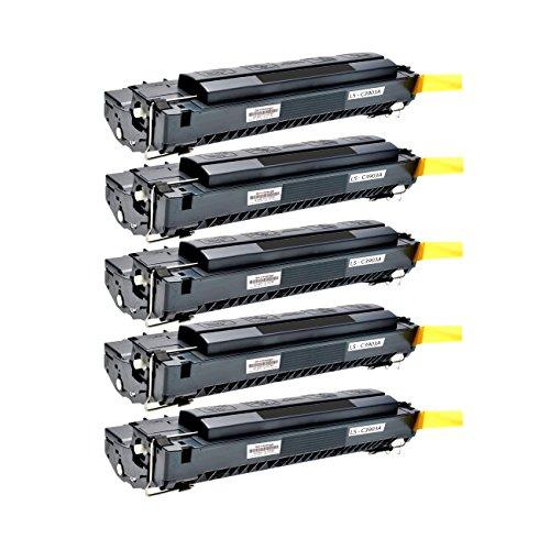 5 Logic-Seek Toner kompatibel zu HP C3903A 03A Laserjet 5P, 5MP, 6P, 6MP Serie - Schwarz je 4.000 Seiten