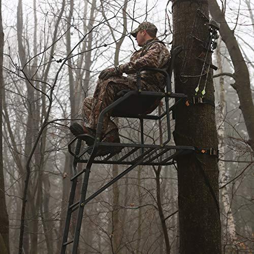 Rivers Edge One Man Ladder Stand, Lockdown Wide 1-Man