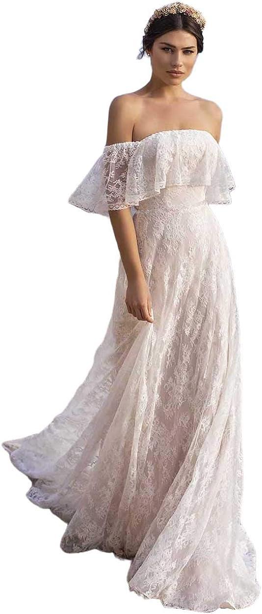 Long Boho Beach Wedding Dresses for 商舗 Ba Line A Bride WEB限定 2021 Mermaid