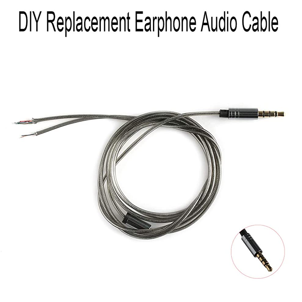 106sasuppg Universal 3.5mm Male 4-Pole Connector DIY Replacement Earphone Audio Cable Wire