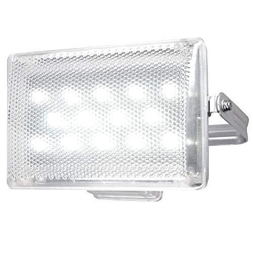 LED buitenwand lamp zwenkbaar tuin bouwplaatsen schijnwerper garages aluminium lamp zilver Globo 34102