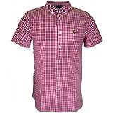 Lyle & Scott Gingham Check Camisa, Rojo (rubí), Medium para Hombre