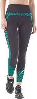 2XU Fitness Hi Rise Print Womens Long Compression Tights - Black