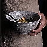 Cuencos de postre Cuencos retro gran cerámica carne de res de carne de res por fideos sopa de sopa ramen cuenco fruta ensalada cuenco creativo copo de nieve glaseado mezclando cuenco sirviendo cuenco