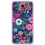 Hapdey Funda Rosa para [ Wolder Wiam 23 ] diseño [ Patrón de Flores Multicolor ] Carcasa Silicona Flexible TPU