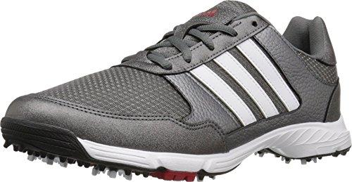 adidas Men's Tech Response Golf Shoe, Iron Metallic/White, 9 M US