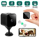 Mini Spy Camera Hidden, Wireless 1080P HD Camera Wifi Portable Small Covert Nanny