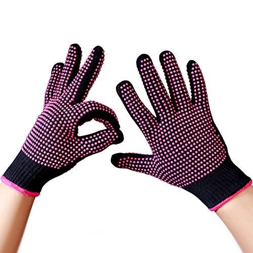 Surenhap Hitzebeständige Handschuh, Professional Haarglätter Zubehör für Haar Styling Werkzeug Lockenstäbe Glätteisen Locken Glätten Haare