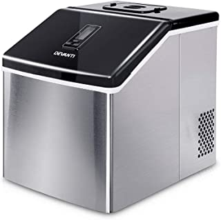 DEVANTi 3.2L Ice Cube Maker Portable Commercial Ice Cube Machine Stainless Steel