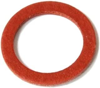 50x Red Insulating Flat Fibre Washer// Fiber-Unterleg-Scheibe Rot 1.0x11.3x15.4mm