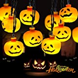Marchpower Halloween Pumpkin String Lights - Holiday LED Light for Outdoor Indoor Party Decor 10...