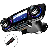 Bluetooth FM Transmitter Car MP3 Player Hands-Free Car Kit Wireless Radio Audio Adapter with Dual USB 5V 2.1A...