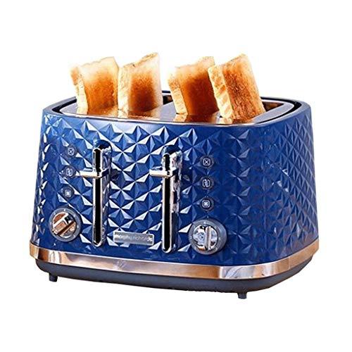 SCKMBJ 4 Scheiben Toaster |Edelstahl mit Breiten Schlitzen & herausnehmbarer Krümelschublade für Brot & Bagels