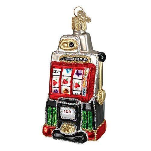 Old World Christmas Vegas Baby Glass Blown Ornaments for Christmas Tree, Slot Machine