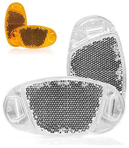 Kellago Starkreflektierende Speichen-Reflektor in Katzenaugen-Reflektoren/Fahrrad-Speichen-Reflektoren/Stvzo zugelassen [ mit starker Reflektionsfunktion für hohe Sicherheit! ] (Weiß, 4er Pack)