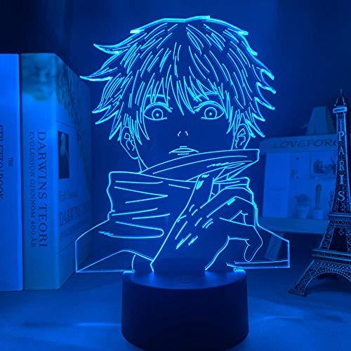 3D Anime Lampe Illusion Satoru Gojo Licht Jujutsu Kaisen LED Nachtlicht für Geburtstag Geschenk Jujutsu Kaisen Nachtlicht Satoru Gojo Fernbedienung