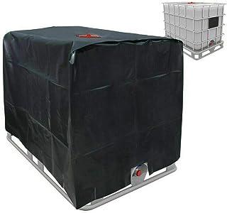Cubierta de lámina de protección solar para depósito de agua de lluvia 1000 L IBC contenedor negro