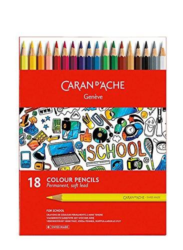 Caran d'Ache School - 18 matite colorate permanenti