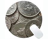 Yanteng Alfombrillas de ratón Redondas Personalizadas, Monedas de Dinero Capital Rectángulo Personalizado Juego Alfombrillas de ratón Redondas