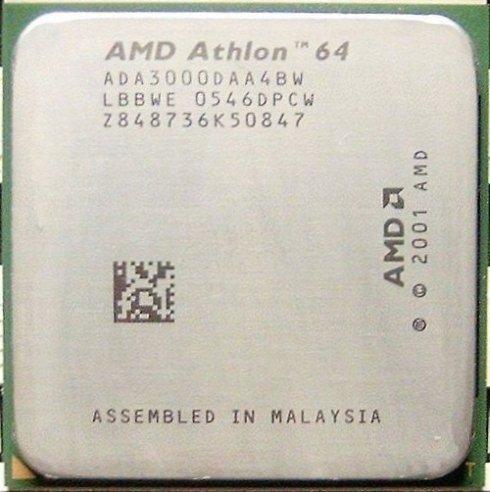 AMD Athlon 64 3000+ Venice Single-Core-Prozessor mit Lüfter (1,8 GHz, 512 KB L2 Cache, Sockel 939)