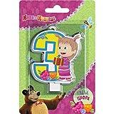 Y # x421; andle sobre una decoración para tarta para 3años Masha y el oso debe tener accesorios par...