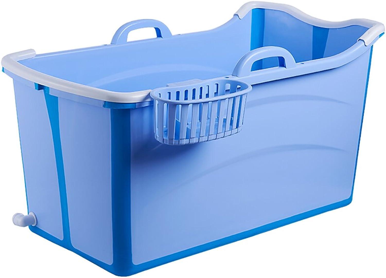 SYF Kunststoff Blau Faltbare Badewanne Lagerung Home Kunststoff Erwachsene Badewanne Kind Badewanne Einfach Zu Bedienen 80   103cm A++ (Farbe   A, gre   80cm)