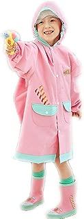 LHY- Raincoat S/M/L Children's raincoat Boys with Bag Girls Child Primary School Waterproof Poncho Convenient (Color : Pink, Size : L)