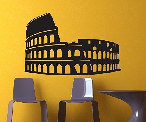 Wandtattoo Rom Colloseum Aufkleber Gladiator Wand Dekoration Sticker 1M341, Farbe:Rot glanz;Breite:58 cm