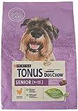 Purina Tonus Dog Chow Senior - Pienso para Perro con Pollo, 4 Bolsas de 2,5 kg