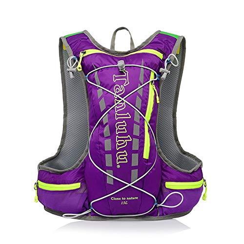 ZKDY Maschio E Femmina Maratona Di Equitazione All'Aperto Backpack,Violetta.
