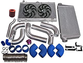 CXRacing 2JZGTE 2JZ-GTE 2JZ Swap 240SX S13 S14 Intercooler Piping Intake Radiator HardPipe Fan Kit Stock Turbo