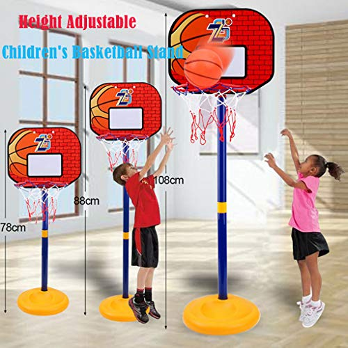 Lowest Prices! GraPefruiT Height Adjustable Mini Basketball Hoop, Basketball Toy Set, Great Gift for...