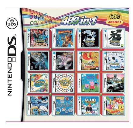 DS Game Super All in 1 Collection Video Game Compilation Cartucho tarjeta de consola funcionará en DS DSI 2DS 3DS DSIXL 2DSXL 3DSXL (489 en 1)