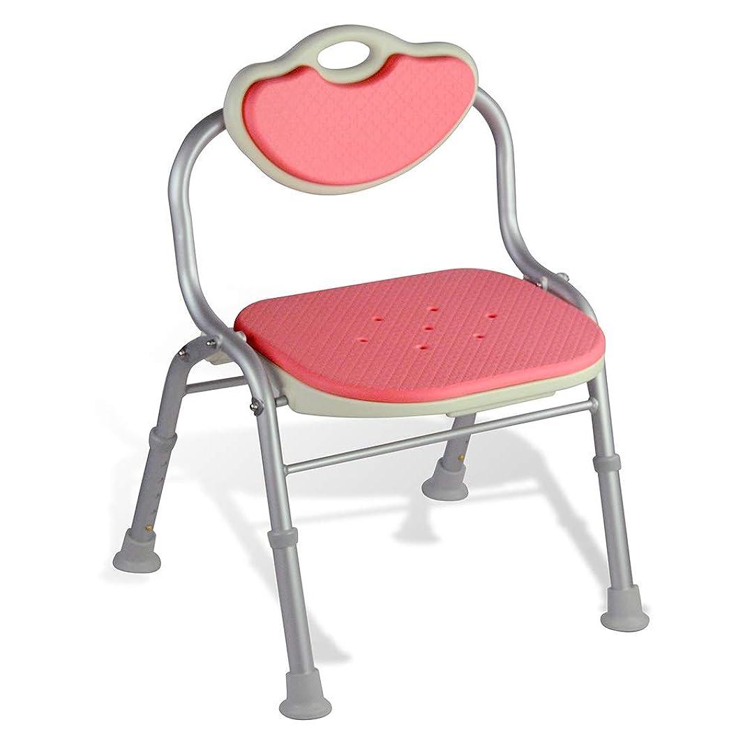 はっきりと最大化する世論調査調節可能なシャワーチェア、背中付き-障害者、障害者、高齢者向けのバスタブチェア (Color : ピンク)