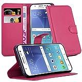 Cadorabo Funda Libro para Samsung Galaxy J5 2015 en Rosa Cereza - Cubierta Proteccíon con Cierre Magnético, Tarjetero y Función de Suporte - Etui Case Cover Carcasa