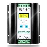 SolaMr 1000W PWM Controlador de Carga Híbrido Solar Eólico 400W Solar y 600W Energía Eólica Controlador Híbrido de Carga 12V/24V Sistema de Identificación Automática de Voltaje