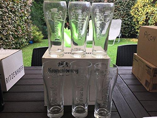 6 verre a biere kronenbourg en 50cl 50 cl
