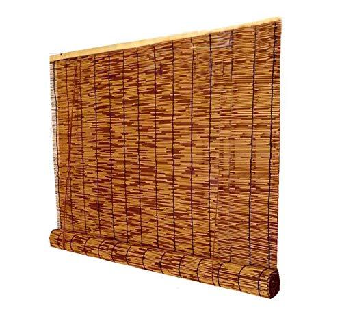 Cortina de caña natural, persiana enrollable para ventana de sala de estar, cortina de partición retro con elevador, impermeable / a prueba de polvo / decoración de mu(Size:180cm*300cm(70.8*118.1in))