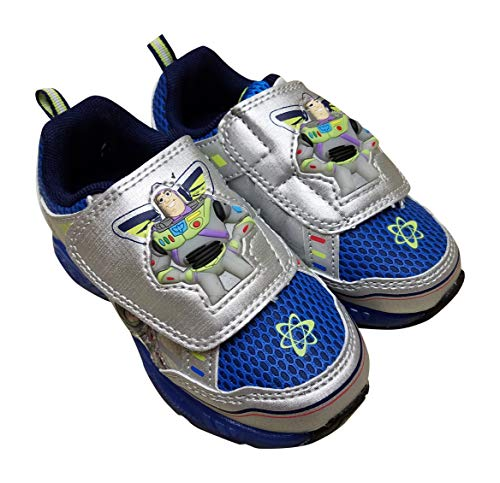 ACI Buzz Lightyear Toy Story Sneaker Shoes for Boys (9), Silber Blue