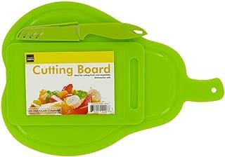 Kole OF977 Pear Shape Cutting Boards and Knife Set, Regular