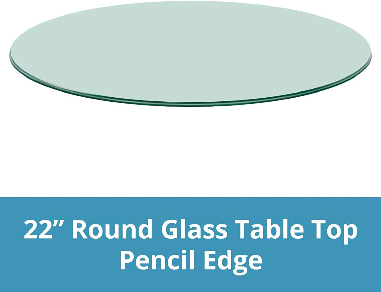 Round Glass Table Top Clear Tempered 3 8  Thick Glass With Pencil Edge For Dining Table, Coffee Table, Home & Office Use - 22 L by TroySys