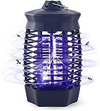 Qxmcov Lampada Antizanzare Elettrica, 1000V Zanzariera Elettrica Insetticida con Luce UV, per Esterno ed Interni con 1 Spazzole Pulite