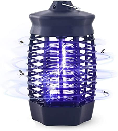 Qxmcov Lampe Anti Moustique Électrique, 4W UV Piège à Moustiques, Répulsifs Non Toxique Chimique, Tueur Moustique avec Brosse de Nettoyage, Destructeur d'Insectes pour Bureau Chambre Maison