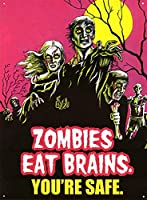 Zombies Eat Brains ティンサイン ポスター ン サイン プレート ブリキ看板 ホーム バーために