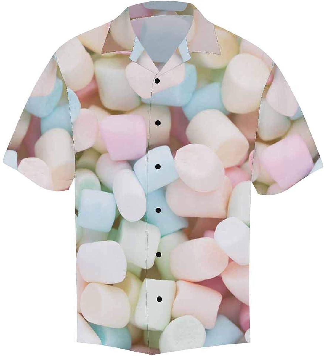InterestPrint Men's Casual Button Down Short Sleeve Vintage Coffee Beans Hawaiian Shirt (S-5XL)