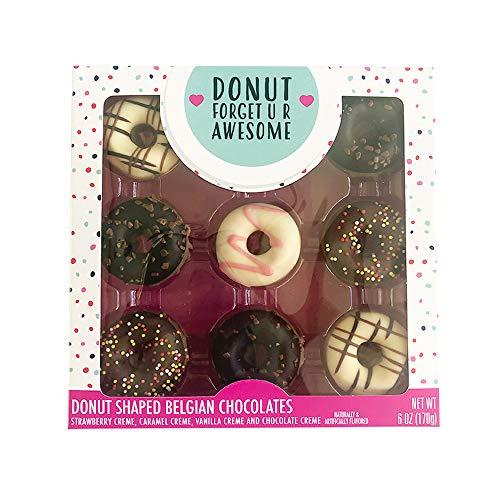 Assorted Donut Shaped Belgian Chocolate Candy Treats Gift Set, 6 oz